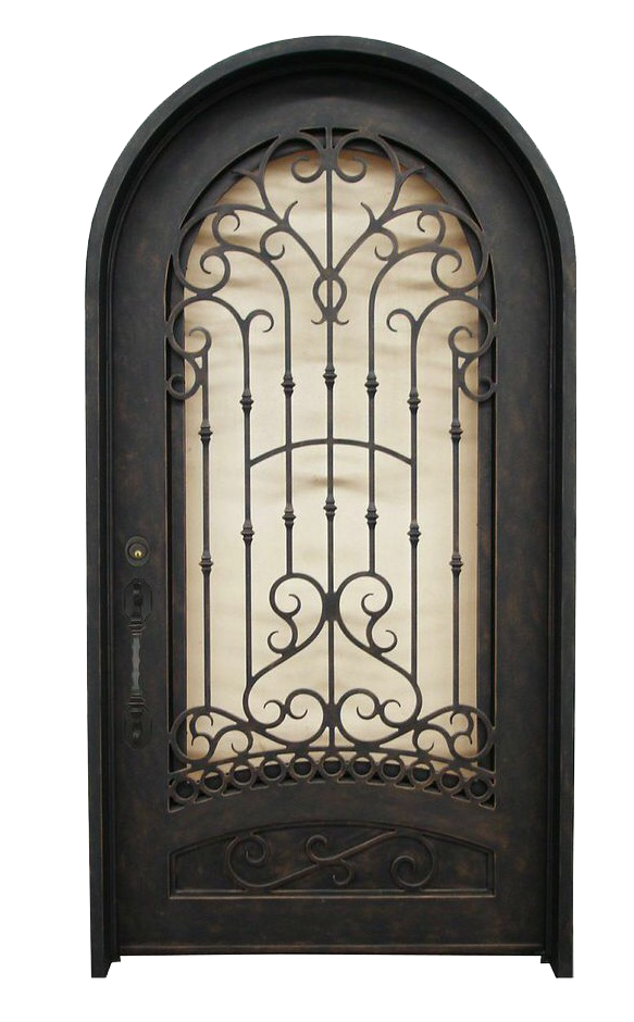 Single Full Arch Doors Supreme Iron Doors